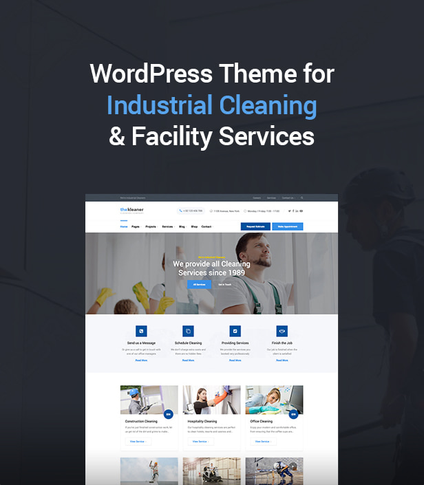 The Kleaner - Industrial Cleaning Company WordPress Theme