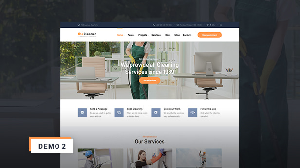 WordPress Theme for Industrial Cleaning Companies - The Kleaner Demo 2