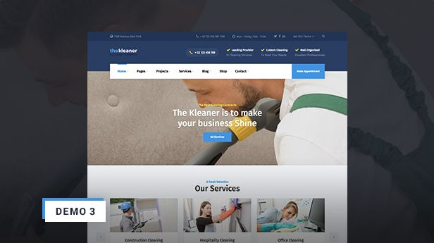 The Kleaner - Industrial Cleaning Company WP Theme Demo 3